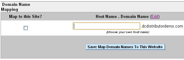 Subdomains in DistributorCentral